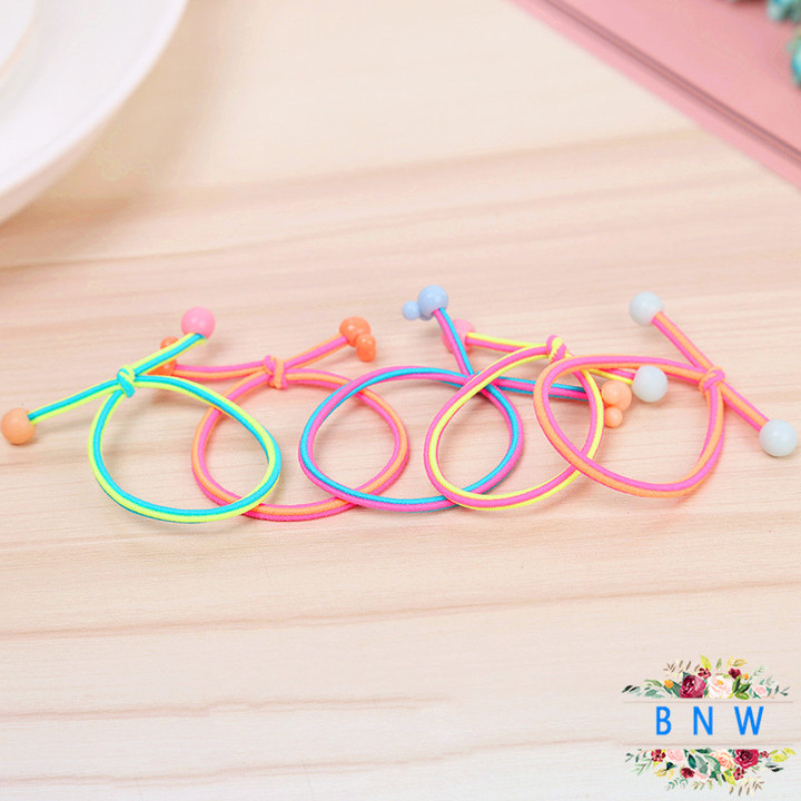 【BNW】Cute candy color hair accessories sweet small fresh rubber band hair ring10116 color