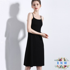 【BNW】Summer new high quality women's bottom strap dress F20024 M Black(105cm)