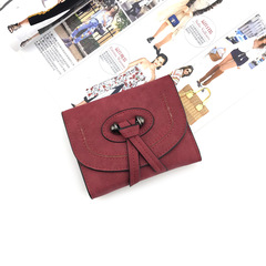 【BNW】Ms. Card Pack Multi-Function Three-Fold Coin Purse Q10012 Red One size