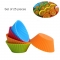 24PCS SET Silicone Cupcake Baking Trays  Reusable Cupcake Cups Multi-Color 7*3.5cm