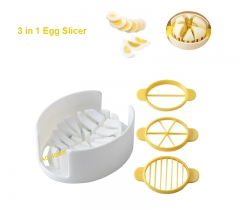 AG Home 3 in 1 Egg Slicer Cutter with three cutting plactes for Strawberries Mushrooms Slicer Random Color 10.7*6.8*3.5