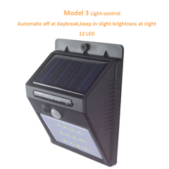 Solar Motion Sensor Lamps Wireless Solar Powered Motion Detector   Security Wall Lights for Outside Model 3 Black 125*97*71mm 0.55W