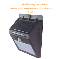 Solar Motion Sensor Lamps Wireless Solar Powered Motion Detector   Security Wall Lights for Outside Model 1 Black 125*97*71mm 0.55W