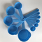 Baking Tools Plastic Measuring Cups and Spoons with Scale Measurement Milk Powder Seasoning Spoon Blue 11pcs set