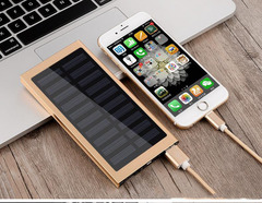 20000mah solar mobile power external battery fast charge dual USB portable mobile phone charger gift sliver 20000mAh