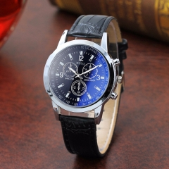 1PCS Leather watch strap wrist watch men business wristwatches for men 3 one size