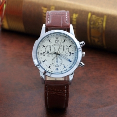 1PCS Leather watch strap wrist watch men business wristwatches for men 1 one size