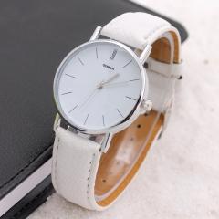 Geneva Wrist Watch Belt Minimalism Male and female Ornament Watch wholesale 2 one size