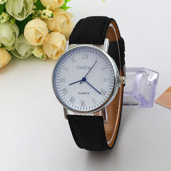 Leather Watch Band Strap Quartz Wrist Watch Men Business Quartz Wristwatches For Men Black one size