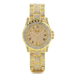 Diamond women watch double ring diamond British wristwatch full diamond fashion leisure women watch 3 one size