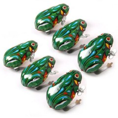Retro Jumping Frog Tin Toys  Vintage Classic Educational  Gift For Children green one size