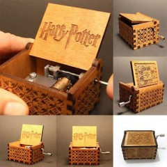 Mini Music Box Harry Potter Engraved Wooden Music Box one color one size