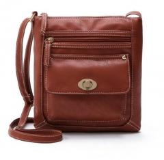 2018 Lady PU Leather Tote Messenger Satchel Shoulder Bag 4 Color Brown one size