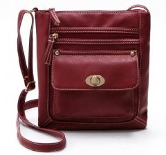 2018 Lady PU Leather Tote Messenger Satchel Shoulder Bag 4 Color Black one size