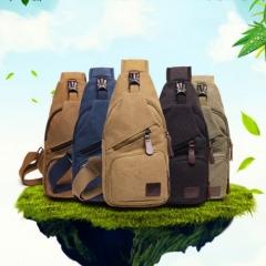 2018 Hot Canvas Hiking Cross body Messenger Shoulder Chest Bag Sling Backpack Sports Bags black one size