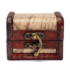 New Arrival Lock Jewelry Treasure Case Handmade Wooden Case Box one color one size