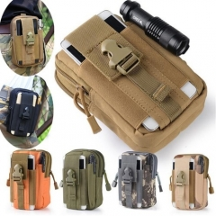 2018 Hot Military Tactical Molle Pouch Belt Waist Waist Fanny Pack Phone Pocket black one size