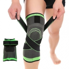 Comfortable  Knee Compression Sleeve Knee Brace Support Pad For Joint Pain And Arthritis Relief Green 1pcs