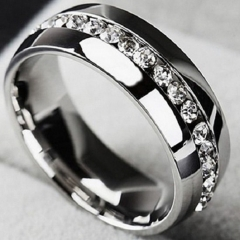 Stainless Steel Ring For Men And Women Lover Rings silver 6