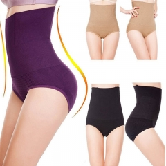 1PC Women High Waist Shaper Slim Tummy Underwear Control Briefs Shapewear Panty Body Purple M/L