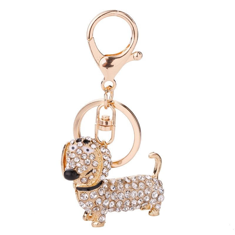 Kilimall  New jewelry with diamond popular dog dachshund keychain ... 8bdc25343d