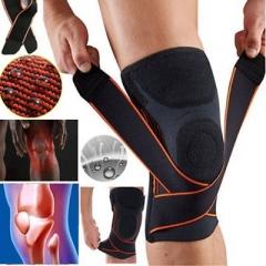 Adjustable Bandage Pressurization Silicone Knee Pads Elastic Knee Brace