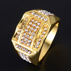 So Sparkling ! Wedding Band Ring for Men Yellow Gold Plated Engagement Ring Gift gold 6