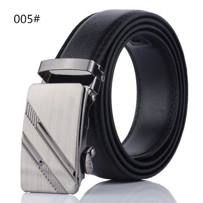 As Seen As On TV Comfort Click Belt Imitation Leather With Steel Black For Men 005 100-135cm