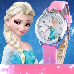 Cartoon Children Watch Princess Watches Fashion Kids Red One size