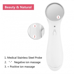 Electric Anti-aging Machine High Frequency Ultrasonic Facial Beauty Device Ionic Face Cleaner White