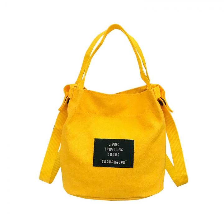 Fashion Shoulder Bags For Women Single Strap Canvas Soft Cross Body Handbags Large Capacity Fem Yellow