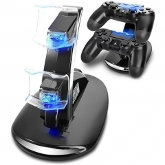 Playstation 4 Charger Dual USB Charging Charger Docking Station Stand for PS4 Controller black one size