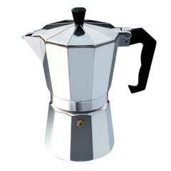 Aluminium Moka Pot Octangle Coffee Maker For Mocha Coffee Italian Coffee sliver 3Cup