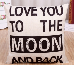 17 Different Cushion Cover Home Pillow Case Cotton Linen Sunshine Love Letter Cushion Sofa Bedroom 10 one size