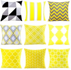 Nordic Style Colorful geometric stripes Design Decorative Cushion Covers Pillow Cover b one size