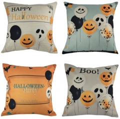 Happy Halloween 45cm*45cm Pillow Cases Happy Fall Yall Linen Sofa Cushion Cover Home Decor a one size