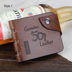 Vintage Leather Men Wallets Hollow Out Male Purse Clutch Hasp Male Money Bag Slim Wallet Coin Pocket Style1 7inchx4inchx1inch