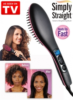 Straight Hair Straightener Comb Digital Electric Straightening Hair Dryer Brush black one size