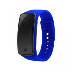 Sport Bracelet LED Watch Sport Watch Fashion Digital Watch Date Time Wristwatch Colorful Rubber Band blue one size