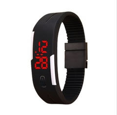 Wholesale and Retail Smart Watch LED Digital Bracelet Watch Sport Strap Wristwatch for Men Women black 20pcs