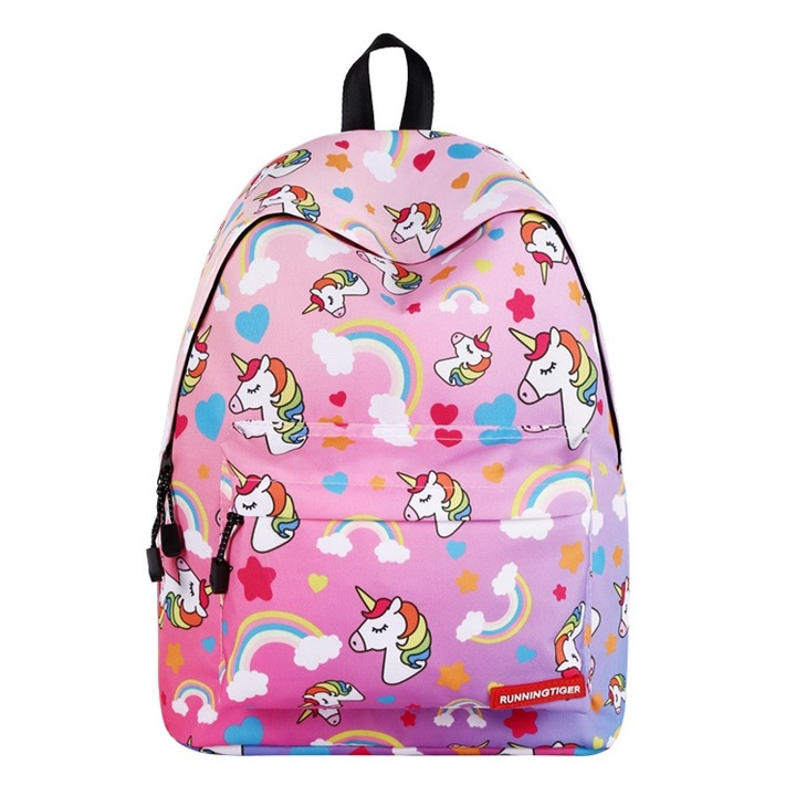 c5cdc43cb89f Cute Portfolio School Bag Children Anime Backpack With Unicorn Kids Female  Women For Girls Teenagers pink