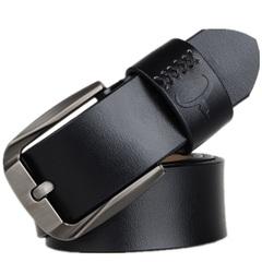 Vintage Style Pin Buckle Cow Genuine Leather Belts for Men Cinturones Hombre High Quality Mens Belt brown 130cm