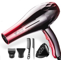 Hairdryers 2200W 220V High-power Hairdryer Anion Ceramic Ionic Fast Styling Blow Dryer Hair Drier red one size