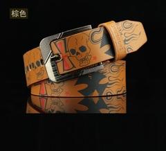 Cow Genuine Luxury Leather Men Belts Strap Male Big Size 100-130cm 3.8 width brown 110cm