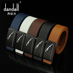 High Quality Luxury Cow Genuine Fashion Men`s Belts Strap Automatic Buckle Cinto Masculino white 95-115cm