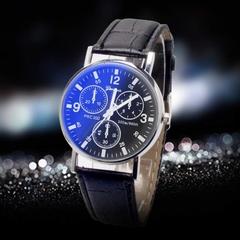 Wholesale and retail Man business watch quartz watch man smart watch glass Luxury belt SO fashion! style1 2pcs