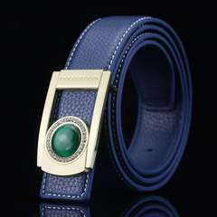 High Quality Luxury Cow Genuine Fashion Men`s Belts Strap Automatic Buckle Cinto Masculino