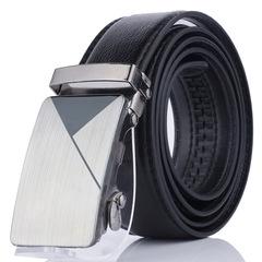 High Quality Luxury Cow Genuine Fashion Men`s Pin Buckle Belts Strap black 95-115cm