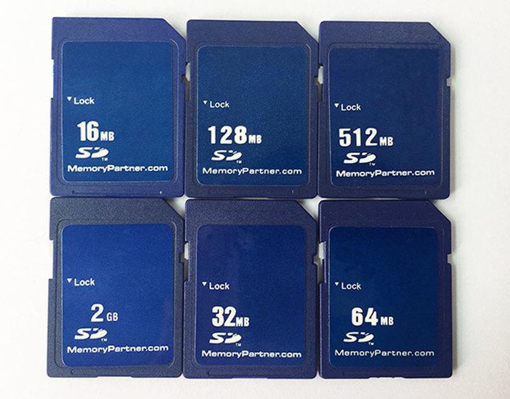SD Card 16MB 32MB 64MB 128MB 256MB 512 MB 1GB 2GB SD Secure Digital Flash Memory Card Tarjeta Carte blue tf/sd 16mb flash drive