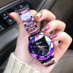 Luxury Brand Lady Crystal Watch Fashion Quartz Watches Female Stainless Steel Wristwatches